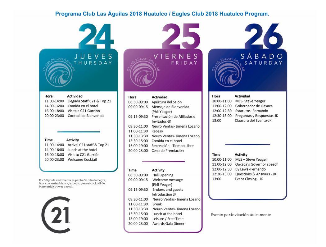 eagles club 2018 huatulco program